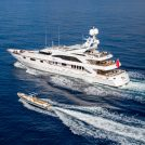 Sting 10m Waterjet with superyacht