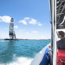 Serket 98 Chase boat Land Rover BAR Americas Cup 2017